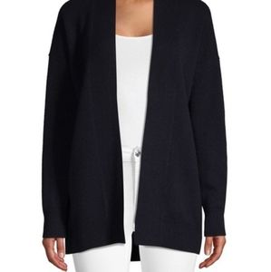 Vince Dropped Shoulder Wool Cashmere Sweater Navy